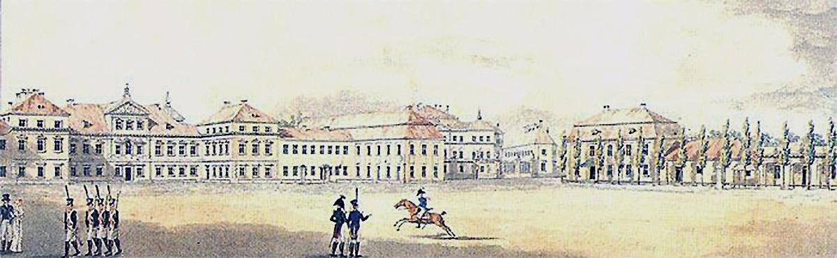 Pałac Saski - widok z 1819 r.